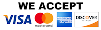 We accept all major credit cards and government p-cards